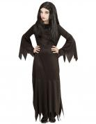 Gothic-Dame Kostüm für Mädchen Halloweenkostüm schwarz