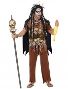 Okkulter Voodoo-Schamane Herren-Kostüm braun-weiss-schwarz