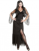 Dunkle Magierin Damen-Kostüm schwarz
