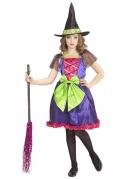 Fröhliche Märchenhexe Kinder-Kostüm bunt