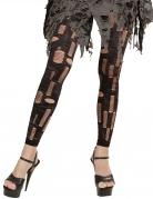 Zerfetzte Zombie-Leggins für Damen schwarz-grau