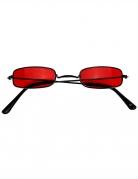 Stylische Vampir-Brille für Erwachsene schwarz-rot