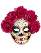Sugar Skull Maske für Damen Dia de los Muertos bunt