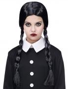 Düstere Gothic-Perücke Schulmädchen schwarz