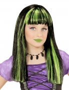 Freche Hexenperücke für Mädchen schwarz-grün