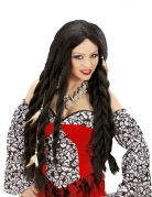 Voodoo-Schamanin Langhaarperücke für Damen mit Dreadlocks schwarz