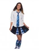 Ravenclaw™ Krawatte Harry Potter™ Kostümaccessoire blau-silberfarben