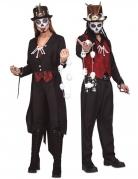 Voodoo-Paarkostüm für Erwachsene Halloween-Kostüm schwarz-rot