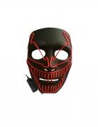 Superschurken LED-Maske für Erwachsene schwarz-rot