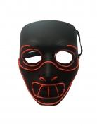 Kannibalen LED-Maske für Erwachsene schwarz-rot
