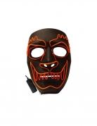 Werwolf LED-Maske für Erwachsene schwarz-orange