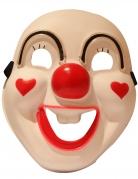 Psychoclown LED-Maske für Erwachsene beige-rot-schwarz