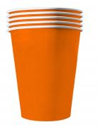 Grosse Pappbecher orange 20 Stück 530 ml