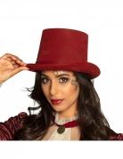 Steampunk-Zylinder für Damen viktorianisches Accessoire Halloween rot