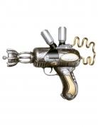 Steampunk-Waffe Spielzeugwaffe Accessoire silber-gold