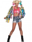 Harley-Quinn™-Kostüm Birds of Prey™ Halloween-Kostüm Damen rosa-blau-gelb