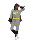 Batgirl™-Overall für Damen mit Maske grau-schwarz-gelb