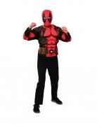 Deadpool™-Kostüm für Jugendliche Marvel™ Top mit Maske rot-schwarz