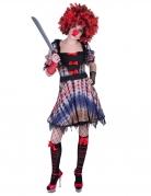 Halloween-Clown-Kostüm für Damen bunt