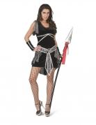 Kelten-Kostüm für Damen Kriegerin schwarz-silber