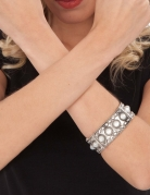 Mittelalter-Schmuck Armband Kostüm-Acccesssoire silbern