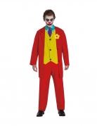 Trauriger-Clown-Kostüm für Herren Film-Kostüm rot-gelb