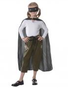 Superhelden-Set für Kinder Cape mit Maske schwarz