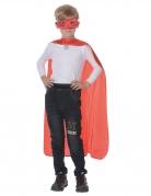 Superhelden-Set für Kinder Cape mit Maske rot