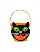 Katze Filztasche Filzkorb Katzenkopf orange schwarz