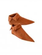 Mittelalter-Schuhe zum Überziehen braun