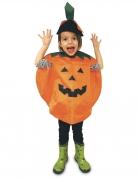 Kürbis-Kostüm für Kinder Umhang mit Hut orange-schwarz-grün