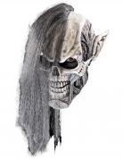 Nekromanten-Maske für Erwachsene Halloween-Maske weiss-grau
