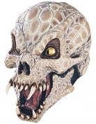 Reptiloiden-Maske Halloween beige