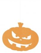 Kürbis-Deko aus Filz zum Aufhängen Halloween orange
