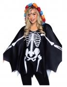 Skelett-Umhang Skelett-Kostüm für Damen