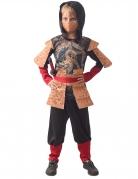 Traditionelles Ninja-Kostüm schwarz-braun-rot