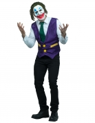 Psychoclown-Herrenkostüm Halloween-Kostüm violett-weiss