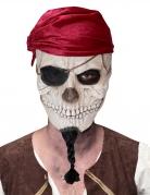 Skelett-Maske Pirat Halloween weiß-schwarz-rot