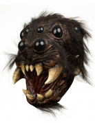 Spinnenkopf Halloween Maske für Erwachsene braun-schwarz