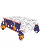 Halloween-Tischdecke aus Papier zum Ausmalen 1,2 x 1,8 m
