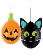 Happy Halloween-Luftballons DIY Halloween Friends 2 Stück bunt 30 cm