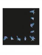 Gothic-Servietten Krähen 16 Stück schwarz-blau