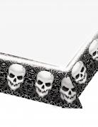 Schädel-Tischdecke Halloween schwarz-weiss 137 x 259 cm