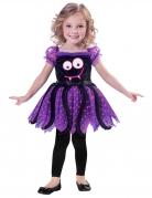 Niedliches Spinnenkostüm für Kleinkinder Happy Halloween bunt