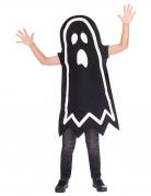 Phosphoreszierendes Gespenster-Kostüm für Kinder Halloweenkostüm schwarz-weiss