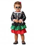Skelett-Kostüm für Babys und Kleinkinder Tag der Toten bunt