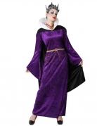 Böse-Königin-Kostüm für Damen Halloween violett-schwarz
