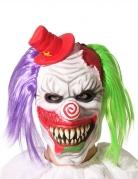 Furchterregende Horrorclown-Maske für Erwachsene bunt