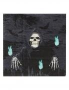 Servietten Papierservietten Totenkopf Skull schwarz 20 Stück 17 x 17 cm