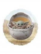 Runder Baby Yoda-Luftballon bunt 43 cm
